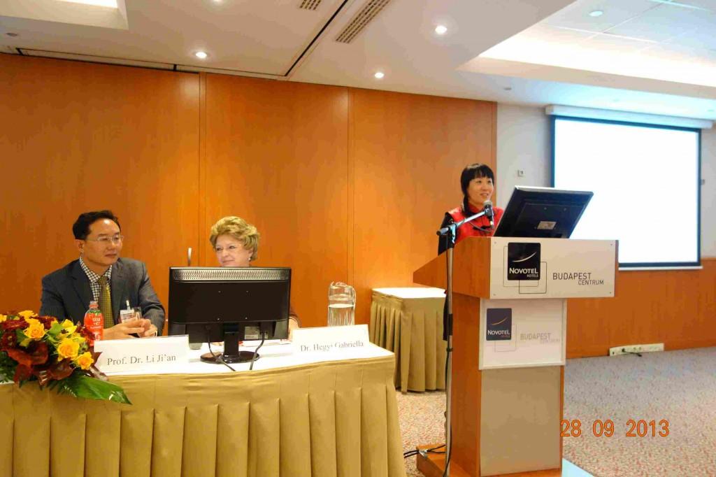 Dr. Hegyi Gabriella - prof. Dr. Li Ji'an